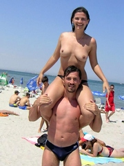 Cute romanian girlfriend topless at the..