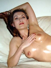 Russian wife in stockings strips and..