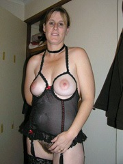 Hairy mature wife with big breasts..