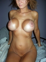 Anonymous gf with big silicone breasts..
