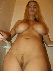 Blonde gf with big natural breasts..
